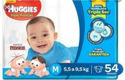 Fraldas Huggies Azul M
