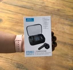 Fone Wireless Digital Tws Bluetooth 5.0 Mod;earfhone J60 Pró<br><br>