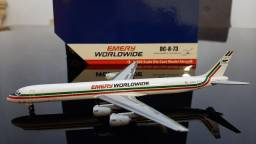 Miniatura avião<br> Emery worldwide <br>escala 1.400 gemini jets