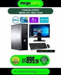 Torrando! Pc Desk Dell Home Office Completo barato! Facilitamos em 6x S/Juros! Whats On!