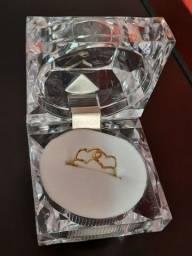 Título do anúncio: Joia anel ouro 18k, presente perfeito