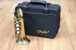Trompete Pocket Condor Cptr90Bb Si Bemol Laqueado - Produto Novo - Loja Física