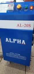 Maquina de arrematar fios seme nova alpha dois motores duas cabeças