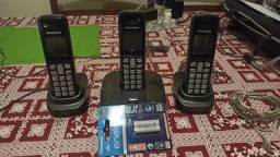 Telefone sem fio Panasonic + 2 ramais