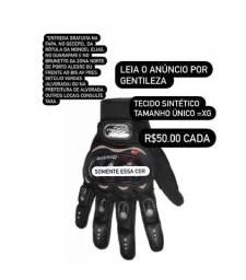 (Chega dia 30/5) Luva Moto Motoqueiro Motocross Motociclista Pró Black Preta