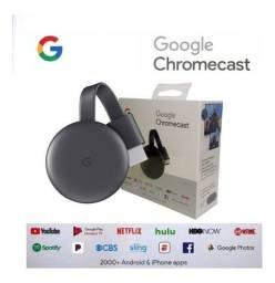 Chromecast 3 Google Hdmi  Chrome Cast Original - entrego Aceito Cartão