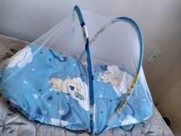 Vendo ninho de bebê usado em bom estado e mosquiteiro