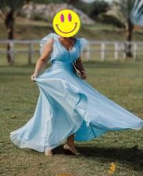 Vestido de festa - Azul Tiffany