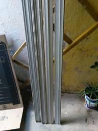 Trilhos de alumínio pra porta de vidro