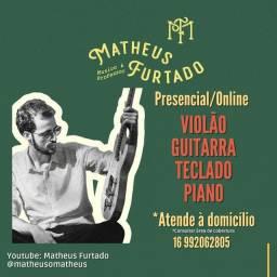 Aulas de Música (Violão/Teclado/Piano/Guitarra)