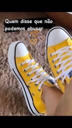 All star amarelo c/nota/garantia 6meses