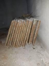 Postes e placas de cimento - lajotas para muro