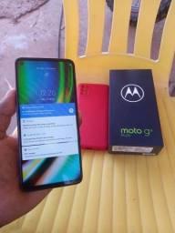 Moto G9 plus 128gb 20dias de uso completo com nota fiscal 1.790$