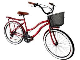 bicicleta adulto aro 26 nova bagageiro aero freios alumínio