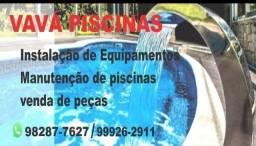 Instalação de equipamentos e manutenção de piscina .