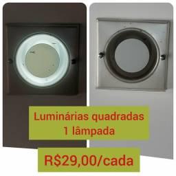 Luminária quadrada 1 lâmpada