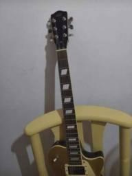 Guitarra AXL Les Paul+ pedaleira digitech