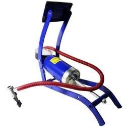 Bomba De Ar Alta Pressão Encher Pneu Moto Bicicleta Colchão It Blue