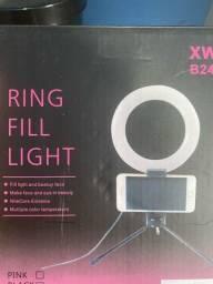 Ring light 6 polegada com suporte para celular