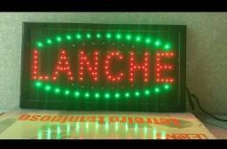 Painel de LED luminoso Lanche 110v