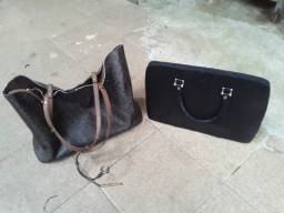 Bolsa Calvin Klein original e maleta de couro para trabalhar