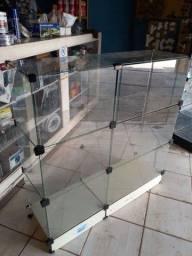 Balcão de vidro   usado