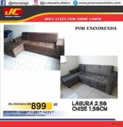 SOFÁ LUIZA COM  CHISE POR ENCOMENDA