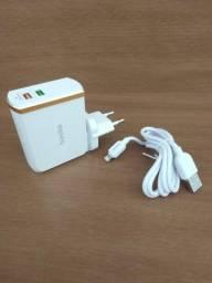 Carregador iPhone TURBO  2 USB  30w Basike