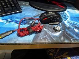 Mouse Gamer Warrior 4000DPI 18 botões Preto com LED - MO206