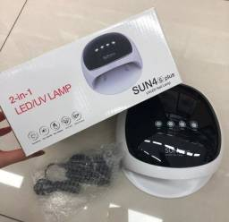 Cabine De Unhas Gel, Fibra Led/uv Secagem Sun 4s Plus 52w