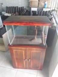 Armário com aquário 70 litros