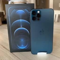 iPhone 12 pro de 128 gb na cor pacífic blue !!