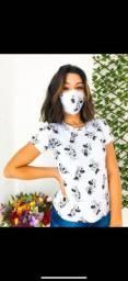 Blusas personalizadas com máscaras