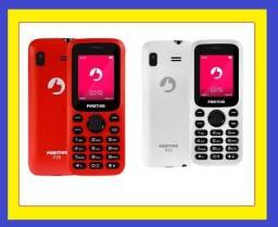 Celular novo Positivo tela  1.8'' - Dual-Sim - Branco/vermelho ac cartões e pix
