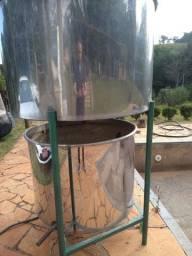 Alambique de 400 litros com resfriador