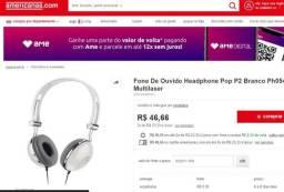 Fone de Ouvido Multilaser PH054 Vibe Headphone com fio Branco