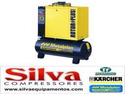 Compressor de Ar de Parafuso 10 HP Metallan