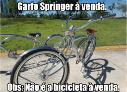Garfo para bicicleta aro 26 modelo Springer cromado torcido, low rider novo