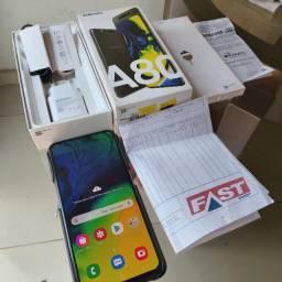 Galaxy A80,128G,8G Ram ultra Rapido,48Mpix,Nota,6 mes,todos os acessorios