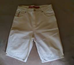 Short Jeans branco Unissex Tamanho P