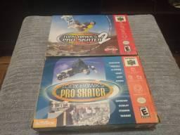 Tony Hawk`s Pro Skater 1 e 2 originais para Nintendo 64