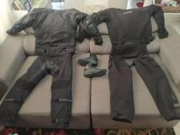 Kit de roupa para andar de moto com proteção + Bota