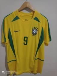 Camisa seleção brasileira 2002 Ronaldo fenômeno