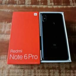 Xiaomi Redmi Note 6 Pro 64gb cartão 3x sem juros completo aceito celular como pagto