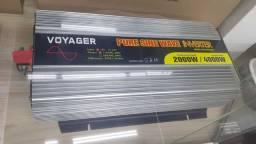 Inversor de voltagem 12v 110v onda senoidal pura novo na caixa