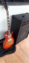Guitarra Sheuton USA + caixa amplificada
