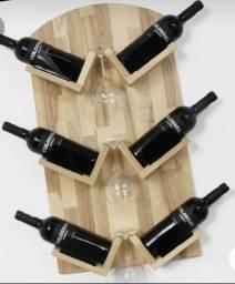 Porta vinho Rústico (estoque reposto sempre na sexta-feira.)