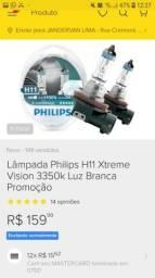 H11 e HB3 philips - lâmpadas luz branca, usado comprar usado  Manaus