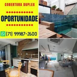 Cobertura Duplex, Porteira fechada, nascente, debruçada no mar do Rio Vermelho