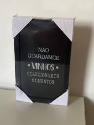 Quadro porta rolha de vinho - NOVO